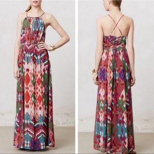 Anthropologie Maeve Tarana Maxi Dress Sz 6